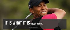 It is what it is - tiger woods  #golfcourse #golf #liveandlearn #life