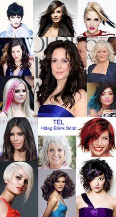 Hajszínek a Tél típushoz - Kívül-belül vonzó Red Hair Color, Winter Colors, Four Seasons, My Style, Hair Styles, Summer, Inspiration, Bright, Colour