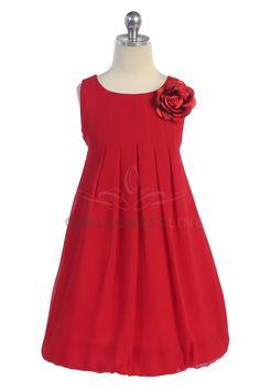 Chiffon Flower Girl Dresses | Red Flower Girl Dresses - Girls Dress Line