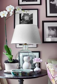 """""""Pair painted walls with black and white photography and decorative objects in modern shapes."""" via Centsational Girl"""