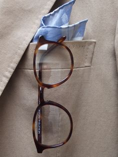 """abitofcolor: My new eyewear from New York based brand MORGENTHAL-FREDERICS. """"In 1986, New York optician Richard Morgenthal purchased the ..."""
