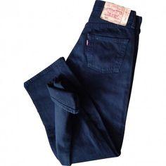 Black Cotton Jeans LEVI'S ($51) ❤ liked on Polyvore featuring jeans, pants, bottoms, blue, black jeans, levi's, levi jeans, blue skinny jeans and levi skinny jeans