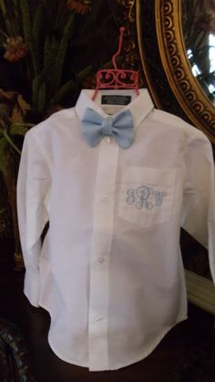 Hey, I found this really awesome Etsy listing at https://www.etsy.com/listing/181008100/boys-monogrammed-easter-shirt-and-bow
