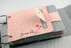 Use with a magnet Mini Album Scrapbook, Scrapbook Cover, Baby Scrapbook, Scrapbook Paper Crafts, Mini Albums, Baby Mini Album, Mini Album Tutorial, Album Book, Handmade Books