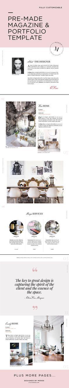 Stylish Magazine, Portfolio, Brochure | PreMade Design Template | Fully Editable