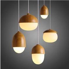 Nordic moderno minimalista caliente tuercas vidrio madera globle colgante de luz E27 bombilla cafetería de madera que cuelga de la lámpara fixture envío gratis(China (Mainland))