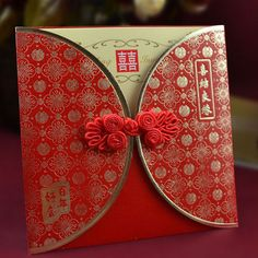 No. 85 Chinese red wedding invitation card,wedding card with Chinese knot 200pcs free shipping