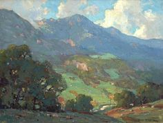 Orrin White (1883-1969). Spring, Malibu Canyon. Oil on Canvas, 18 x 24
