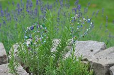 Blumenstecker aus Draht und Perlen selber machen - Smillas Wohngefühl Garden Stakes, Diy Blog, Amelie, Fathers Day, Backyard, Clay, Craft Ideas, Girls, Plants