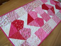 Valentine Table Runner - Charming Hearts in Always and Forever. $45.00, via Etsy.