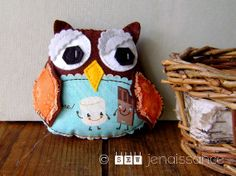 Felt Owl Plush Woodland Softie by sewjenaissance on Etsy, $20.00