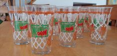 Set Of 4 Mountain Dew Basketball Theme Glasses Vintage From 90s