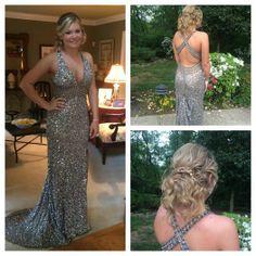 Hannah looking amazing once again in #BGHaute E01017 Platinum! www.bghaute.com