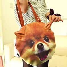 """It is a cute and exquisite handbag for you. Design with printed cute animal head Pu leather. So many different cat/dog pattern bags for you to choose.  Details: MaterialPU Leather                                      Color01, 02, 03, 04, 05,06, 07 Weight390g Length35cm(13.78"""") Height3..."""