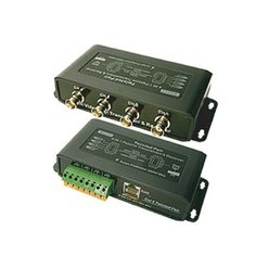 R-Tech 4 CH Video Balun UTP Transceiver (1 pair), 4 x BNC Female to 1 x RJ45 for Security Surveillance CCTV Cameras and DVRs by R-Tech. $20.00. RBT2009 allows you to connect 4 coax BNC video signals from CCTV cameras to a signal that can be transmitted with a single CAT-5 RJ45 cable up to 1200 feet. Two transceivers are needed per installation. One attaches to the BNC video outputs of the security cameras and the other connects to the video inputs on the surveillan...