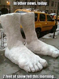 2 feet of snow fell this morning.