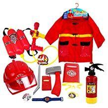Juguete Equipo De Bombero 12 Piezas De Plástico De Simulación Para Niños Kids Role Play Kids Fireman Costume Fireman Costume