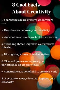8 cool facts about creativity