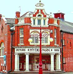 The Hyde Park Picture House on Brudenell Road in Leeds, West Yorkshire, England, is the only remaining gas-lit cinema in the United Kingdom. West Yorkshire, Yorkshire England, Leeds England, England And Scotland, Time In Germany, Park Pictures, Park Homes, Hyde Park, British Isles