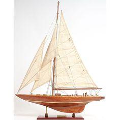 Old Modern Handicrafts Enterprise Small Model Ship (Enterprises Sm), Brown mahogany (Wood)