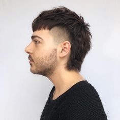 """Nathan Juergensen on Instagram: """"Mullet w/ faded sides on @zacmakeupartist ✂️👨🏼🎤✂️ #NathanJHair #cutlerbrooklyn #cutlersalon #fatboyhair #mullet #fade"""" High Fade Haircut, Haircuts Straight Hair, Curly Hair Cuts, Short Curly Hair, Haircuts For Men, Short Hair Styles, Mullet Haircut, Mullet Hairstyle, Mohawk Hairstyles"""