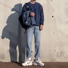 Korean Street Fashion, Korea Fashion, Japan Fashion, India Fashion, Korea Street Style, Streetwear Mode, Streetwear Fashion, Outfits Hombre, Boy Outfits