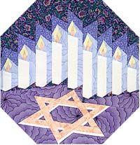 Hanukkah Block Paper-Pieced Quilt Pattern at Paper Panache