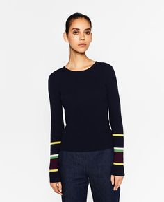 ZARA - WOMAN - STRIPED HEM SWEATER