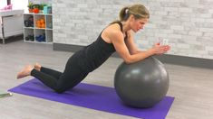 This stability ball abs workout will target your core muscles to help you strengthen your midsection and banish belly fat using interval style segments.