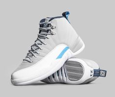 Air Jordan 12 Grey University Blue Release Date - Sneaker Bar Detroit 19768735c