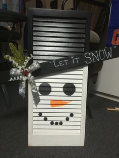 Let it snow Christmas Wood, Primitive Christmas, Christmas Snowman, Christmas Projects, All Things Christmas, Vintage Christmas, Snowman Crafts, Decor Crafts, Holiday Crafts