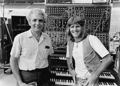 Bob Moog & Keith Emerson, 1974.