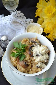 Reteta Risotto cu Ciuperci.Preparare Risotto cu Ciuperci.Cum preparam un risotto delicios. Risotto, Hummus, Blog, Rice, Vegetables, Ethnic Recipes, Kochen, Veggies, Blogging