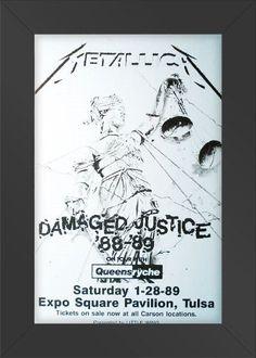 11x17 Concert Poster Metallica Damaged Justice Concert Framed or Un-Framed