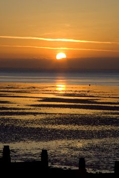 Sunset at Whitstable, England. The sunsets are so beautiful there