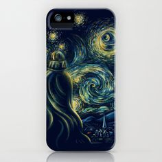 Death Starry Night iPhone & iPod Case by The Cracked Dispensary - $35.00