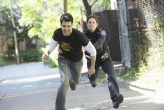 Still of Ben Bass and Missy Peregrym in Rookie Blue