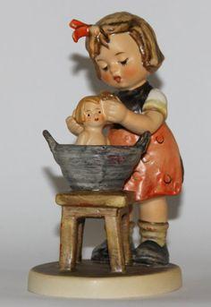 M J Hummel Doll Bath Vintage Porcelain Figurine