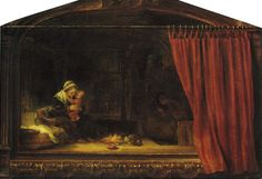 Rembrandt The Holy Family 1646 46.8 x 68.4 cm Oil on wood Staatliche Museen Kassel, Gemäldegalerie Alte Meister