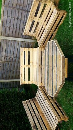 I think you would need 45 degree turn for comfort behind the knees ; Pallet Ideas For Garden Furniture, Pallets Garden, Pallet Furniture, Outdoor Projects, Pallet Projects, Garden Projects, Diy Projects, Pallet Crates, Wood Pallets