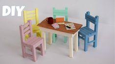 Diy Barbie Furniture, Furniture Making, Miniature Furniture, Dollhouse Furniture, Diy Miniature Dollhouse, Cream Bedroom Furniture, All Modern Furniture, Furniture Ideas, Pop Sicle