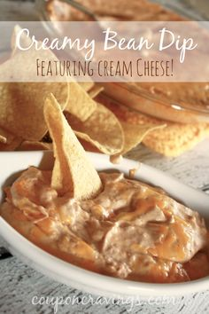On the hunt for appetizers for party time? This creamy bean dip is so good and such an easy appetizer recipe for a crowd! And, the secret ingredient is in the {read more} http://couponcravings.com/best-party-appetizer-recipes-easy-bean-dip/