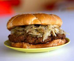 our #fantasticvegan #burger topped with homemade sauerkraut made by burgerhype.com india