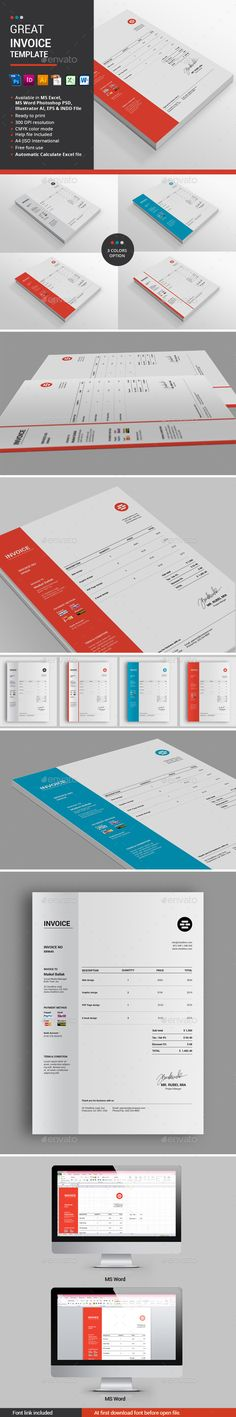 Quoter - Proposal \ Invoice Template Proposals, Project proposal - invoice page