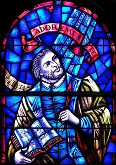 Palestrina detail  Praise window - Westminster Presbyterian Church  724 Delaware Avenue, Buffalo, NY  Dedication: 1967  Designer: Henry Lee Willet  Fabricator: Willet Studios