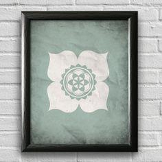 LotusYoga Print Yoga Studio Decor Typography by LotusLeafCreations, $12.00