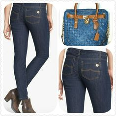 Take 🚨$15 off🚨Michael Kors Jeans Cute and stylish MK Mid-Rise Ankle Jeans. 67% cotton, 32% polyester, 1% spandex. Inseam 29, Rise 9. Thank you and Happy Poshing!!!! Michael Kors Jeans