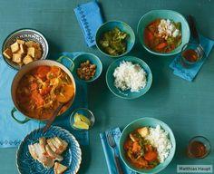 Entspannt für Gastgeber: Das Curry mit Möhren und Wirsing lässt sich prima vorbereiten.