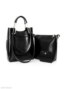 a6e5e4542ae Three Pieces Pu Classic Shoulder Bag Clutch Bags, Tote Bags, Tote Purse,  Tote