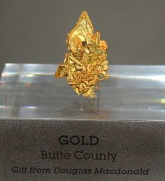This fine crystalline gold specimen is from Butte County at the northern end of the mother lode region in California.